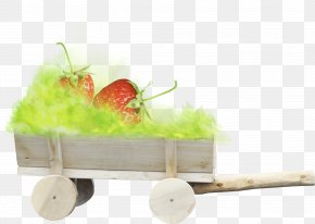 Strawberry Green Vehicle - Easter Bunny Poster Clip Art PNG