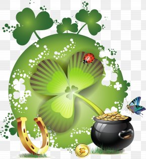 Saint Patrick's Day - Four-leaf Clover Saint Patrick's Day Clip Art PNG