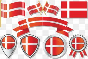 Danish Flag Badge - Flag Of Denmark Gallery Of Sovereign State Flags PNG