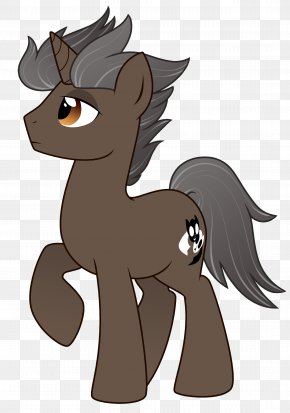 Dark Horse - Pony Mane Cat Dog Pack Animal PNG