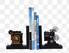 Film Projector Bookshelf - Movie Projector Film Lamp PNG
