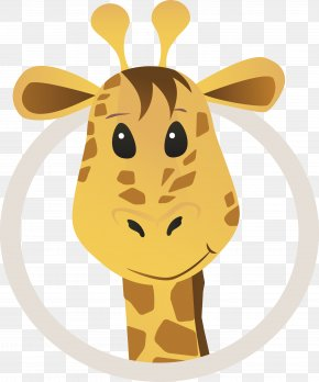 Lovely Cartoon Giraffe - Northern Giraffe Cartoon Drawing Clip Art PNG
