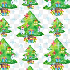 Christmas Tree Collection - Christmas Tree Flower Pattern PNG