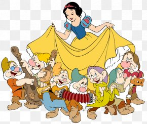 Snow White And The Seven Dwarfs Transparent - Snow White Seven Dwarfs Bashful Grumpy Clip Art PNG