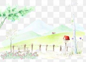 Ink Garden Background - 0 Poster PNG