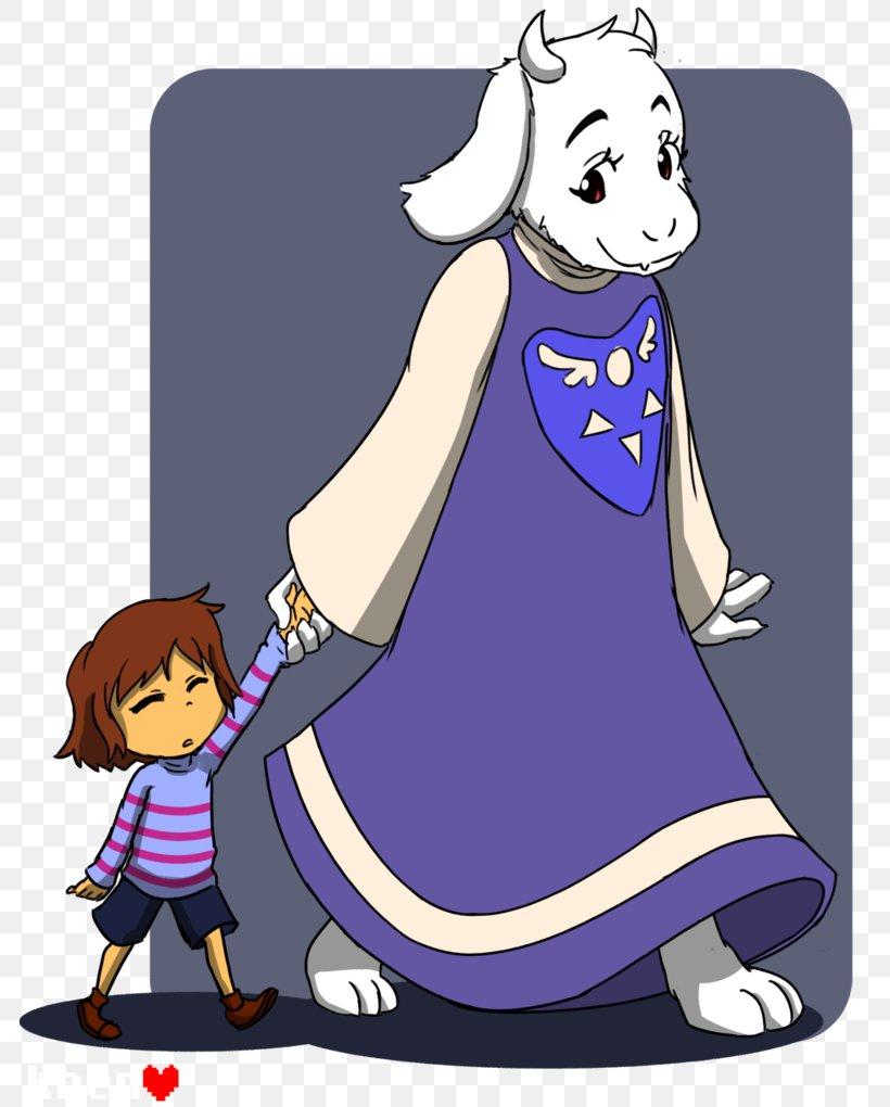 Goat Undertale Child Toriel, PNG, 783x1020px, Watercolor, Cartoon, Flower, Frame, Heart Download Free