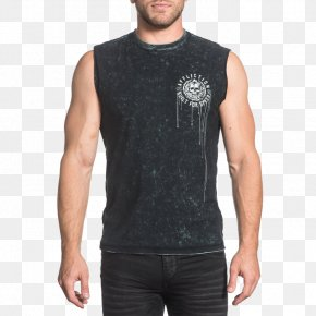 T-shirt - T-shirt Affliction Clothing Sleeve PNG