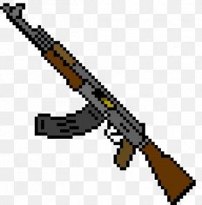 Ak 47 - AK-47 Pixel Art Weapon PNG