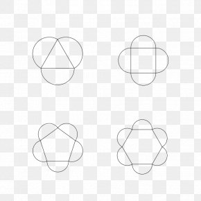 Cliparts Half Circle - Circle Point Angle Black And White PNG