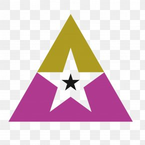 Vector Purple FivePointed Star Hollow Triangle Pattern - Pentagram PNG