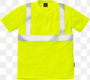 T-shirt - T-shirt Fristad High-visibility Clothing Workwear Sleeve PNG