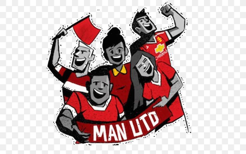 Manchester United F C Sticker Telegram Kik Messenger Png 512x512px Manchester United Fc Art Brand Cartoon Emoji