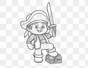 Piracy Boy - Coloring Book Piracy Child Drawing PNG