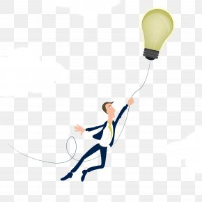 Vector Business Thinking - Incandescent Light Bulb Euclidean Vector PNG