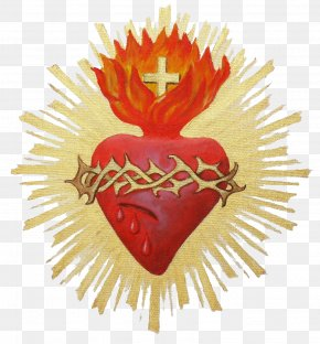 Sacred Heart - Sacred Heart Symbol Immaculate Heart Of Mary Mysticism PNG