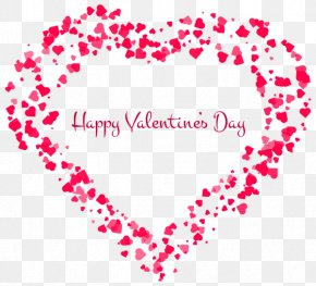 Valentine's Day - Happy Valentine's Day Happy Valentine's Day Heart Clip Art PNG