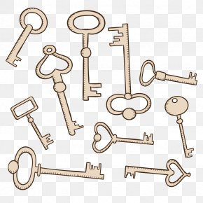 Vector Key Collection - Euclidean Vector Drawing Download PNG