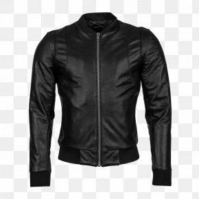 Jacket - Leather Jacket Flight Jacket Coat PNG