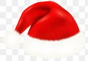 Santa Claus Hat Clipart Image - Red Mouth Hat Character PNG