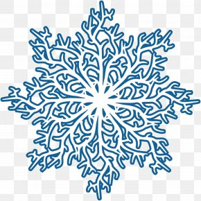 Blue Winter Snowflake Creative Ideas - Snowflake PNG