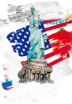 USA Statue Of Liberty - Flag Of The United States United States Declaration Of Independence Flag Day PNG