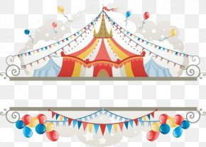 Circus Label - Circus Tent Illustration PNG