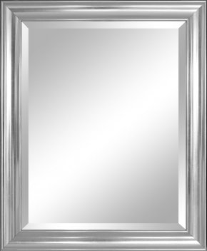 Mirror - Mirror Silver Bevel Wall Picture Frame PNG