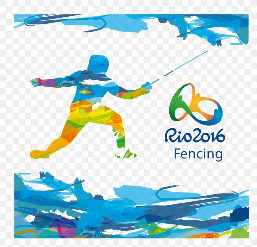 2016 Summer Olympics Rio De Janeiro Fencing Olympic Symbols Sport, PNG, 1125x1081px, Rio De Janeiro, Area, Art, Brand, Brazil Download Free