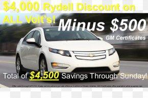 Car - Chevrolet Volt Car Electric Vehicle General Motors PNG