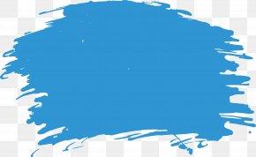Sky Blue Watercolor Brush - Brush Watercolor Painting PNG