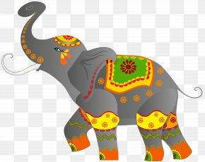 Decorative Indian Elephant Clip Art Image - Indian Elephant Clip Art PNG