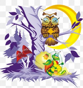 Fairy Forest - Owl Fairy Tale Proverb Folklore Clip Art PNG