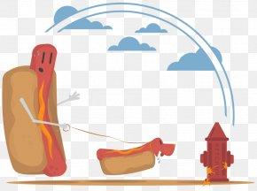 Summer Cookout Abstract Hotdogs Potato - T-shirt Spreadshirt Hot Dog Design PNG
