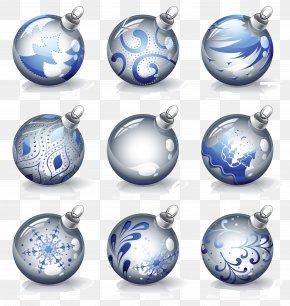 Bulb Vector - Crystal Ball Christmas Ornament PNG
