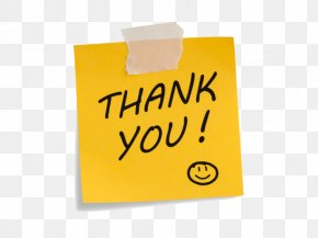 Thank You Images - Paper Post-it Note Clip Art Microsoft PowerPoint Image PNG