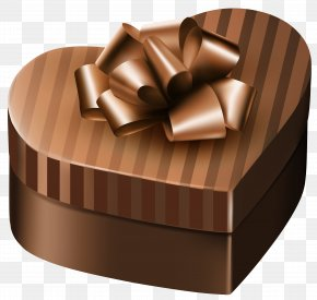 Luxury Gift Box Brown Heart Clipart Image - Gift Box Purple Clip Art PNG