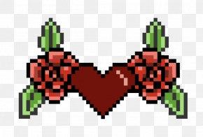 Pixel Art - Black Rose Pixel Art PNG