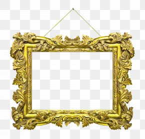 European Gorgeous Gold Border - Picture Frame Stock Photography PNG