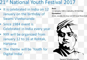 India - National Youth Festival India 150th Birth Anniversary Of Swami Vivekananda Punjabi Language PNG