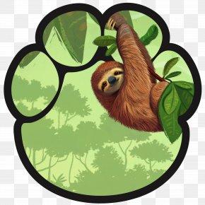 Threetoed Sloth Plant - Summer Flat PNG