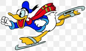 Donald Duck - Donald Duck Clip Art Goofy Ice Skating Ice Skates PNG