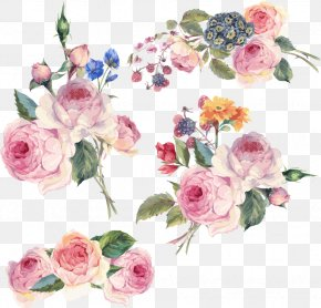 Hand-painted Flowers Vector - Flower Floral Design Clip Art PNG