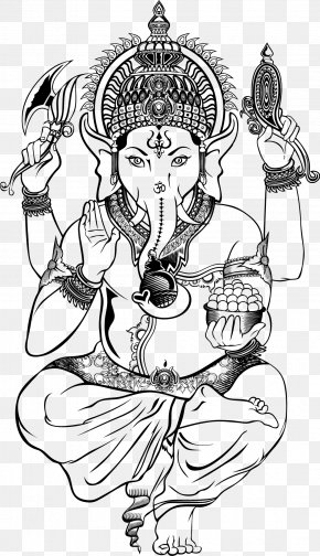Vector Illustration Ganesha - Ganesha Shiva Deity Illustration PNG