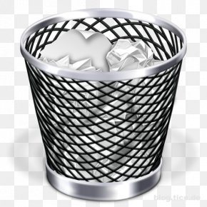 Trash Can - Macintosh Trash Recycling Bin Waste Container Computer File PNG