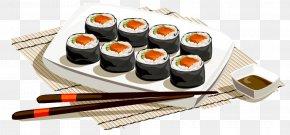 Tongue Cuisine - Sushi Japanese Cuisine Fish Slice Food PNG