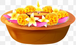 Floating Candles And Flowers Transparent Clip Art Image - Ganesha Flower Clip Art PNG
