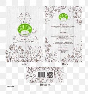 Tea Shop Brochure - Paper Green Brand Font PNG