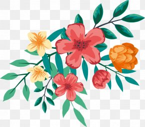 Watercolor Flowers - Floral Design Flower Watercolor Painting PNG