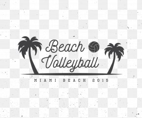 Palm Beach Volleyball - Beach Volleyball Logo Illustration PNG