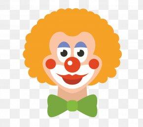Yellow Hair Clown - Clown Circus Clip Art PNG